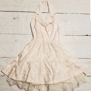 All That Jazz Vintage Pink + White Lace Dress